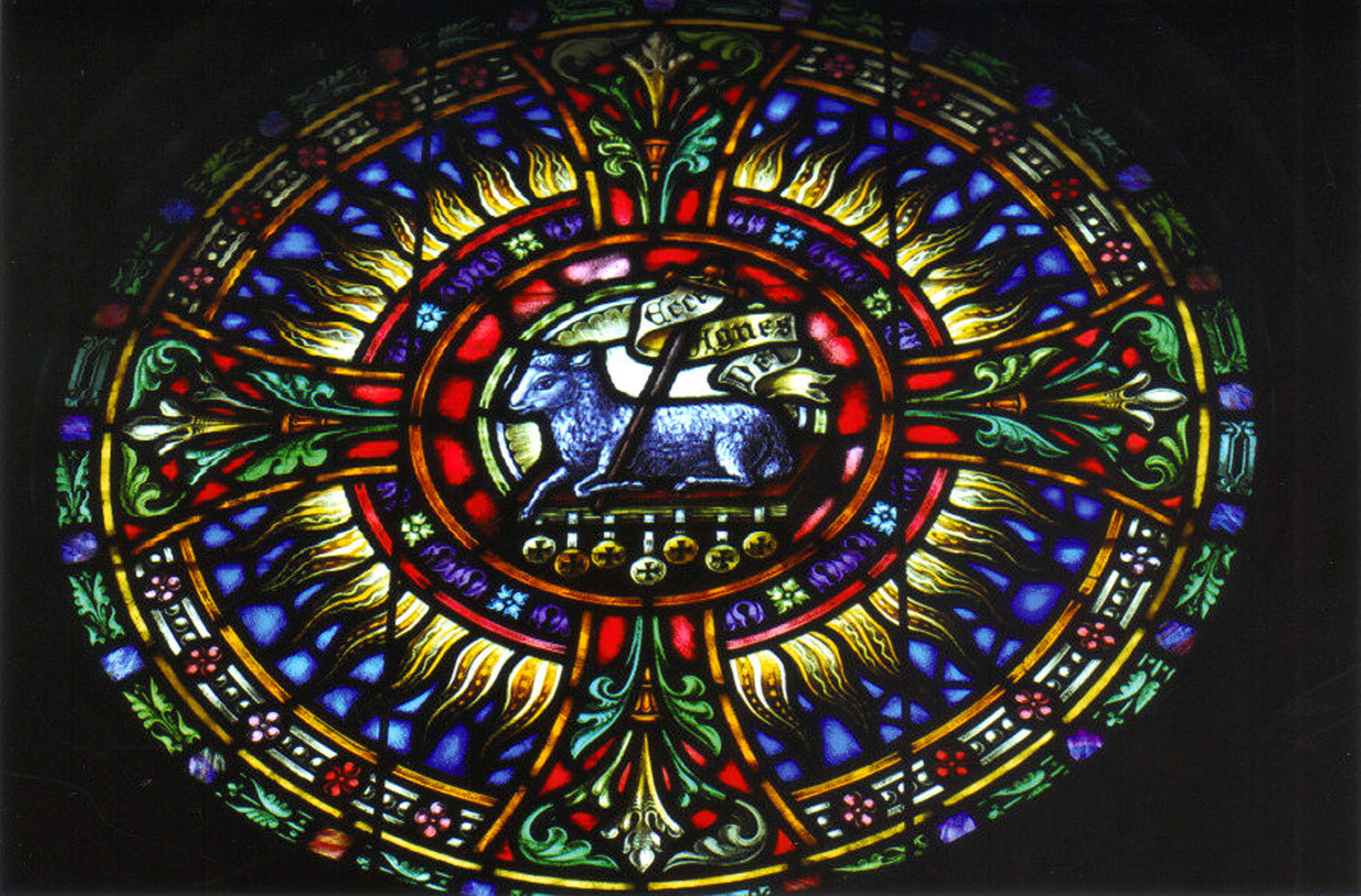 saint gabriel church stained glass window